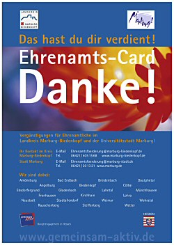 Plakat Ehrenamts-Card